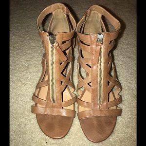 Nine West gladiator zip sandals